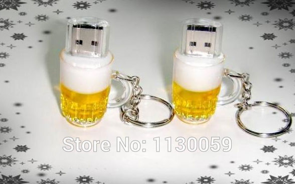 Free shipping 5pcs/lot Real 4gb 8gb 16gb 32GB bulk cheap Plastic Beer Cup Bottle usb flash drives pendrive USB Memory Stick S28(China (Mainland))