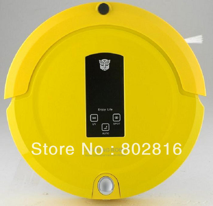 Free Shipping Multifunction Shinning Logo Smart Vacuum Cleaning Robot(Sweep,Vacuum,Mop,Sterilize),LCD Touch Screen,Time Setting(China (Mainland))