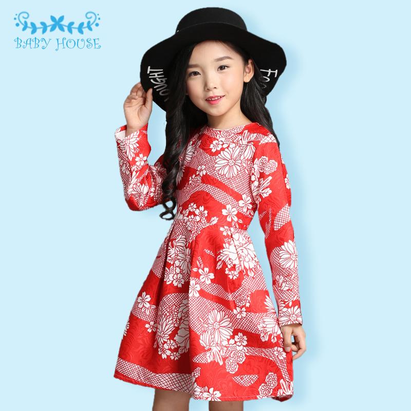 Korean Girls Dress Summer Autumn 2016 Kids Clothes Cotton Children Clothing for Girls Toddler Summer Beach Party Holiday Brand(China (Mainland))