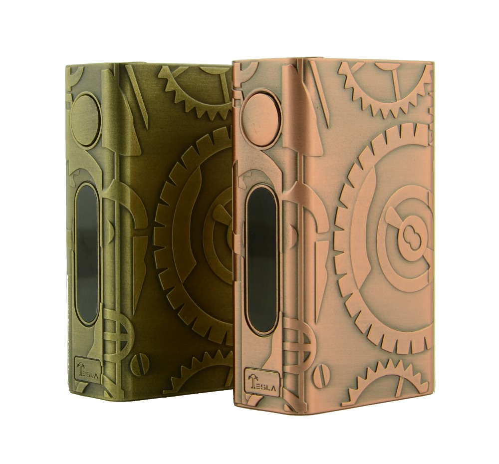 steampunk Original Tesla Nano 100W TC vaporizer pen box mod/full kit with Tornado tank atomizer(China (Mainland))