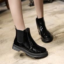 2018 Vintage Style Cuoio DELL'UNITÀ di elaborazione Delle Donne Stivali Piatti Stivaletti Scarpe da Donna Anteriore Zip Stivaletti zapatos mujer(China)