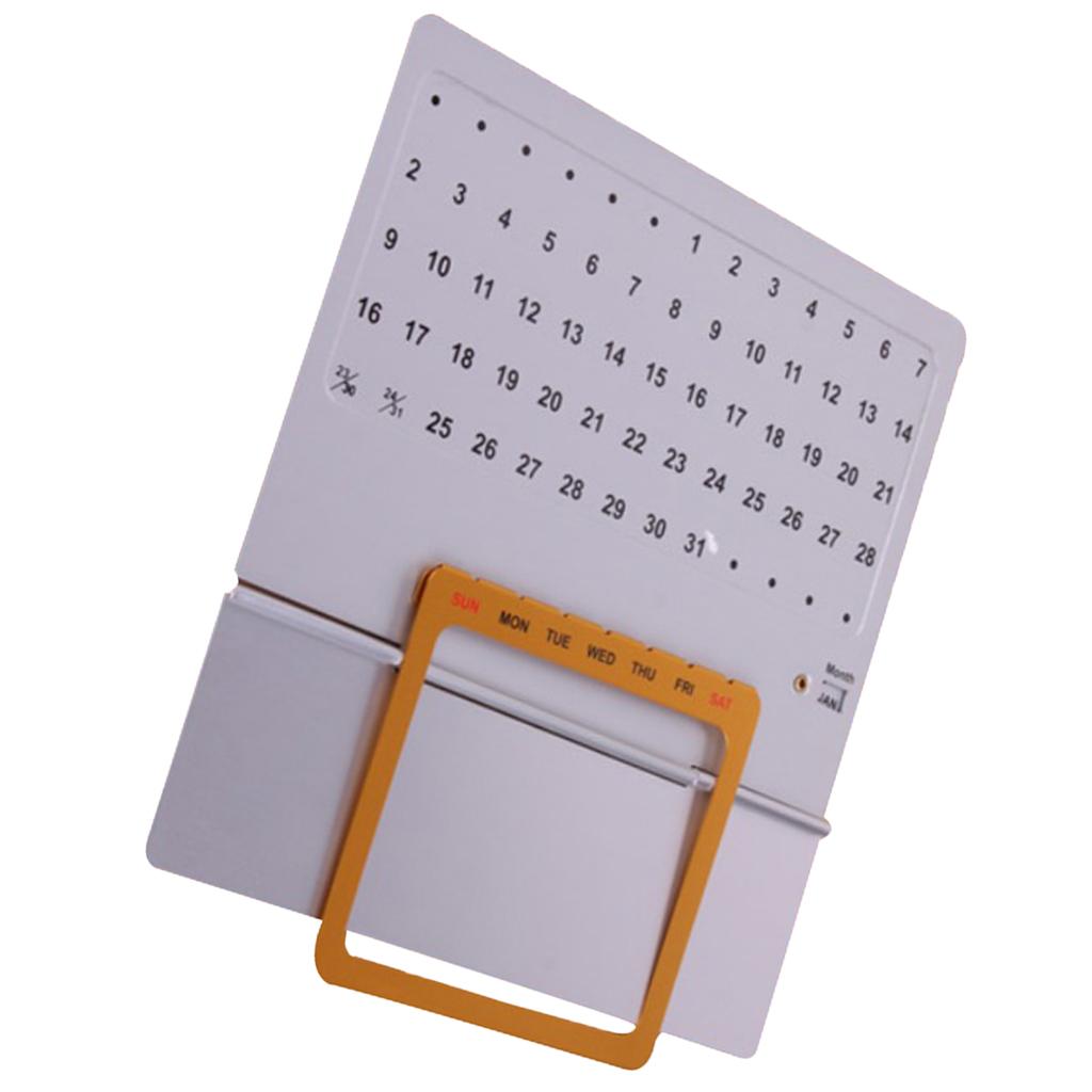 Алюминиевый ручной скользящий вечный календарь многоразовое офисное украшение Aluminum Hand Slide Perpetual Calendar Reusable Office Home Desk Decoration