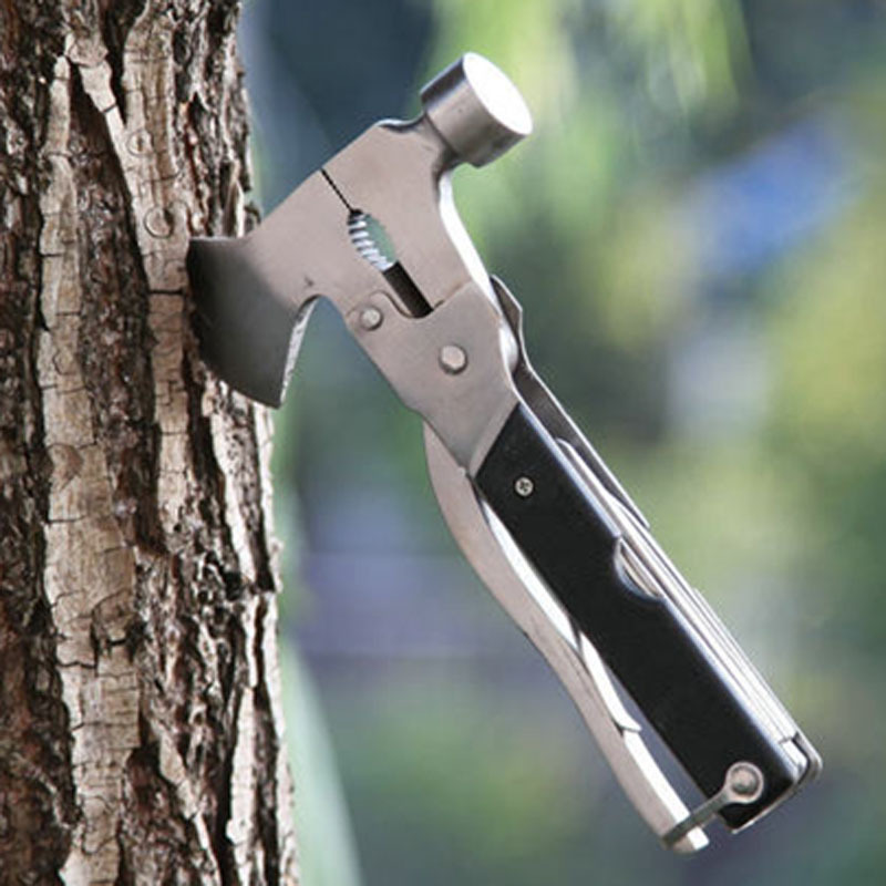 Multifunctional Tools Folding Axe Hammer Camping Axe Hiking Saw Survival Knife Tomahawk Survival Kit Military Hunting