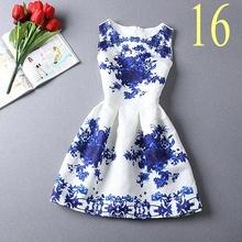 2016 New summer dresses  vintage print dresses casual  women dress fashion design party dress Vestidos(China (Mainland))