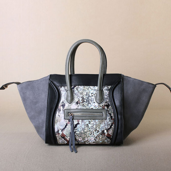 Bag 2015 shiny sequins nubuck leather large smile bag ,Mixed colors Tassel Smiley Tote Bag,Smile Face Purse Luxury Classic Ite*(China (Mainland))