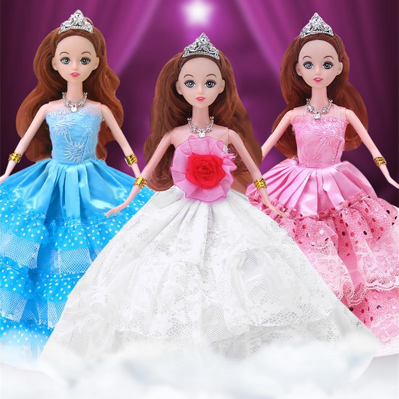 """30cm beautiful Moveable Joint Body Princess Babe Doll 30cm 11"""" Wedding Design Dress Suite Kids Toy Girl Gift free shipping(China (Mainland))"""