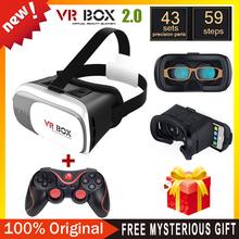 Google cardboard VR BOX 2.0 Version VR Virtual Reality Glasses + Bluetooth Wireless Mouse / Remote Control / Gamepad