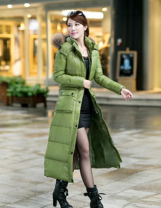 Down coat extra long – Modern fashion jacket photo blog