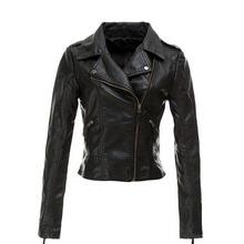 Women Leather Jacket Coat Slim Biker Motorcycle Soft Zipper Girl Leather Jaquetas De Couro feminina women's clothing()