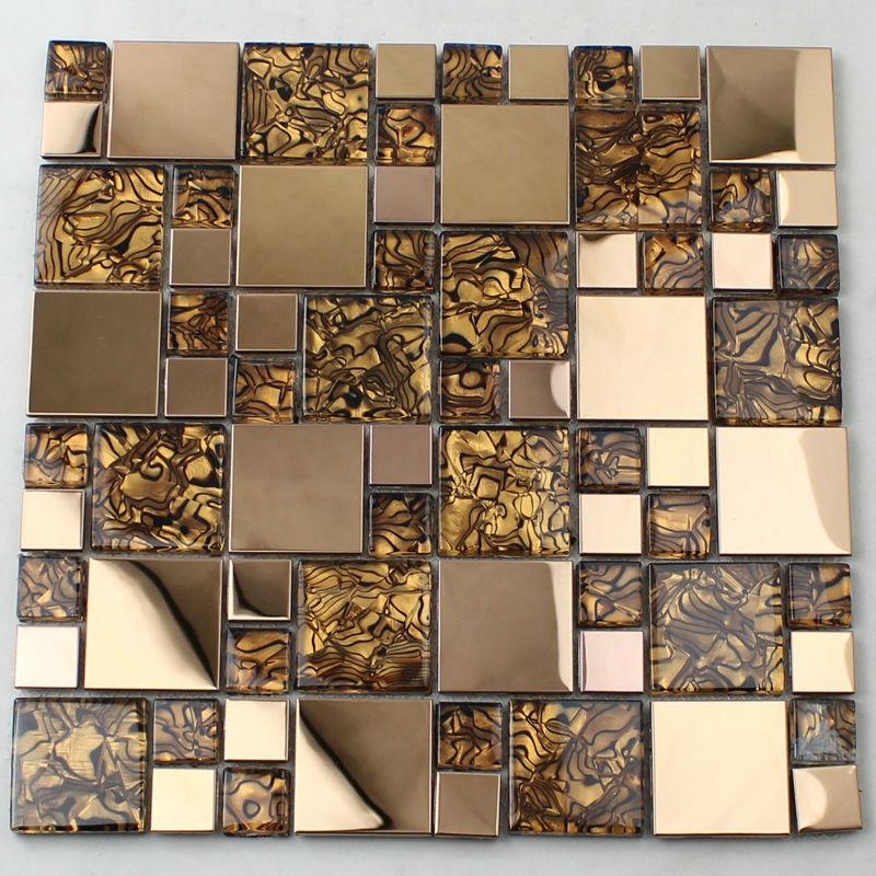 Crystal Glass Tiles Sheet Mosaic Art Wall Stickers Kls033