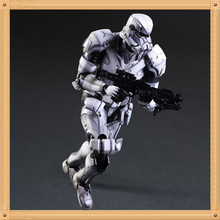 PVC Action Figures Toys Doll Collectible Model The Star Wars PLAY animation ARTS PA white soldier Stormtrooper ultra mobile