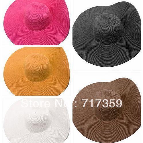 1pc Hot Fashion Women's Foldable Wide Large Brim Floppy Summer Beach Sun Straw Hat Cap Free Shipping   651145