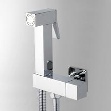 Hand held bidet robinet pulvérisation set de douche ducha higiênica lanos toilettes bidet robinet carré pistolet torneira ducha shataff(China (Mainland))