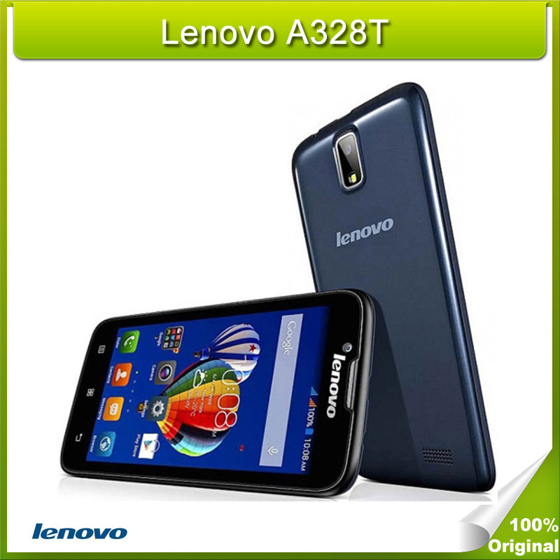 Original Lenovo A328T 4.5 inch HD Screen Android 4.4 Smart Phone MTK6582 Quad Core 1.3GHz ROM 4GB 2000mAh GSM Network(China (Mainland))