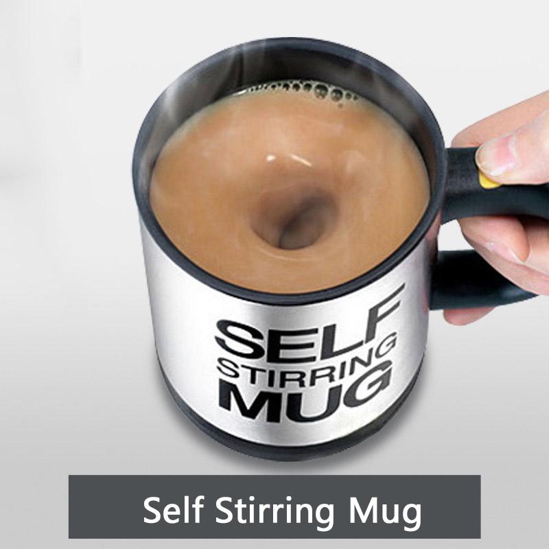 400Ml Self Stirring Mug Electric Lazy Automatic Coffee Cup Milk Mixing Self Stirring mixing Cup Stainless Steel(China (Mainland))