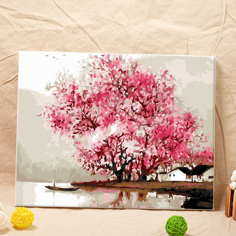 Home Decoration Wall Art Picture Painting by Numbers Acrylic Frameless Wall Hangings Size 40x50cm(China (Mainland))