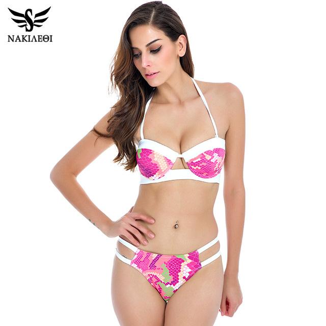 2016 новый ремешками росту бикини бразильский купальник женщин купальники сексуальный летом купальник принтом-образным бикини комплект