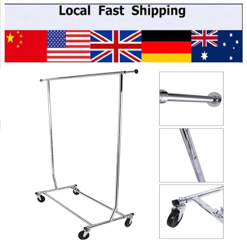Single Pole Adjustable Portable Clothes Garment Rail Shop Display Hanger Rack(Hong Kong)