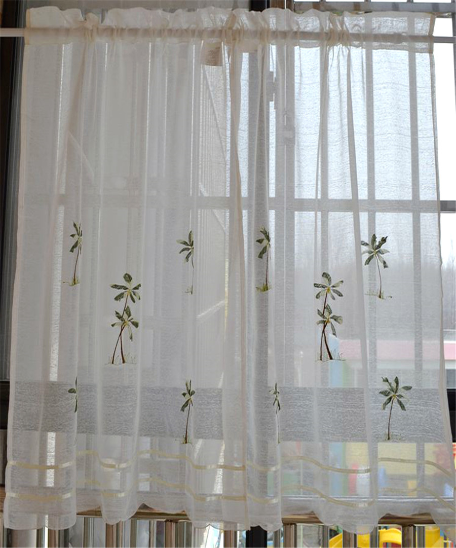 Rustic Kitchen Curtain Fabric Coffee Window Valance Semi Shade Short Curtain-inCurtains From