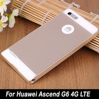 For Huawei G6 Dual Hybrid New Luxury Ultra-thin PC Back Cover + Aluminum Metal Frame Case Cover For Huawei Ascend G6 4G LTE Case