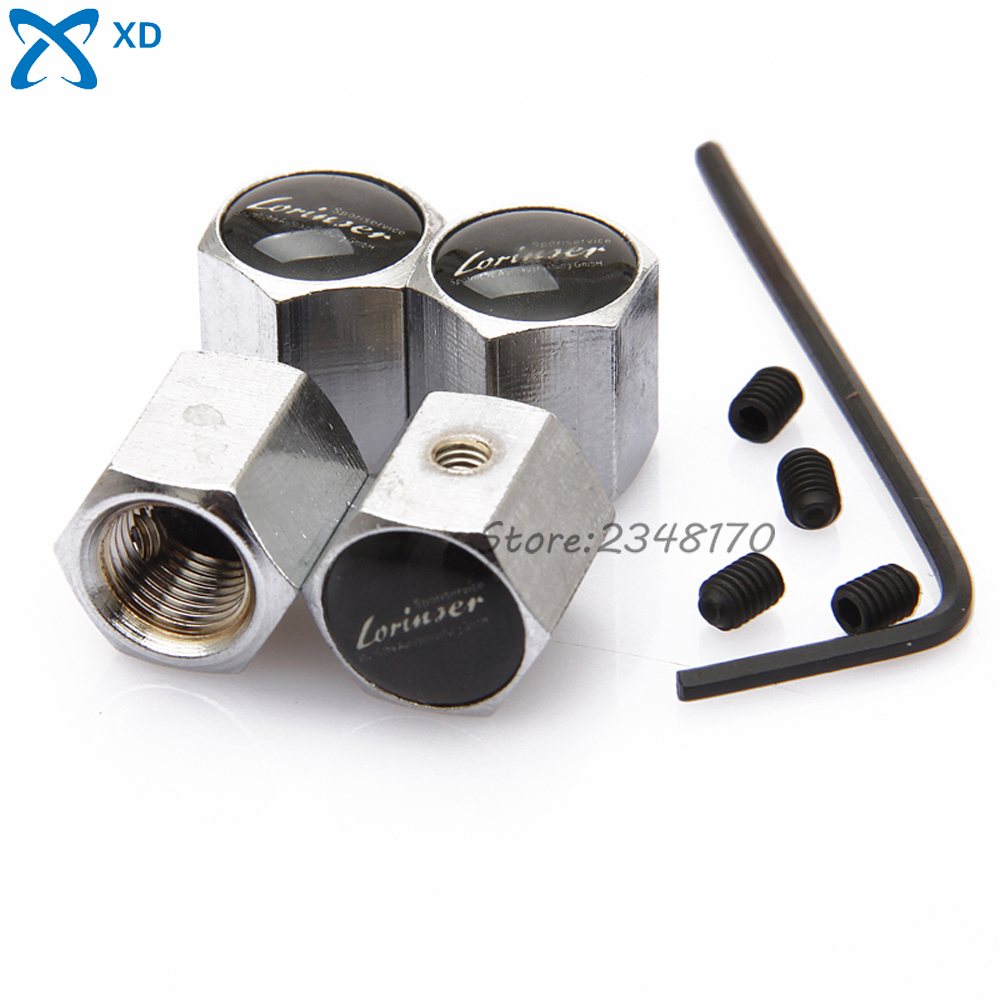 Stainless Steel Wheel Tire Valve Stems Caps Anti-Theft Airtight Cover Rims For Mercedes Benz W204 For Lorinser Logo 4Pcs/set(China (Mainland))