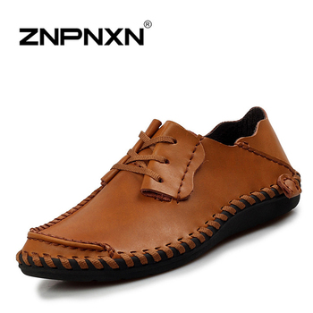 2015 new Mens Shoes casual Flats Handmade Oxford Shoes For Men Loafers Moccasins Zapatos Hombre sapatos masculino Brown