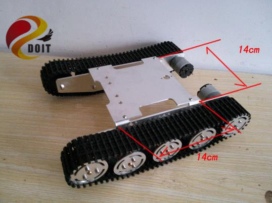 Official DOIT Update Version Tank Car Chassis Crawler Intelligent Diy Robot Electronic Toy ,Development Kit Tractor - InRobotics store