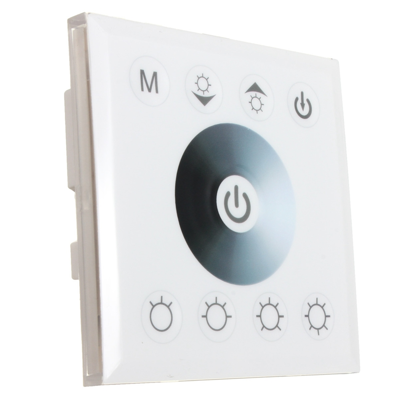 Best Price Single Full Color Dimmer Touch Panel Controller For Single Strip Light White Black DC12-24V(China (Mainland))