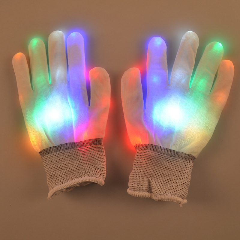 Men Women Led Rave Light Finger Glow Mitt Night Club Lighting Flashing Gloves Party Supplies free drop shipping(China (Mainland))