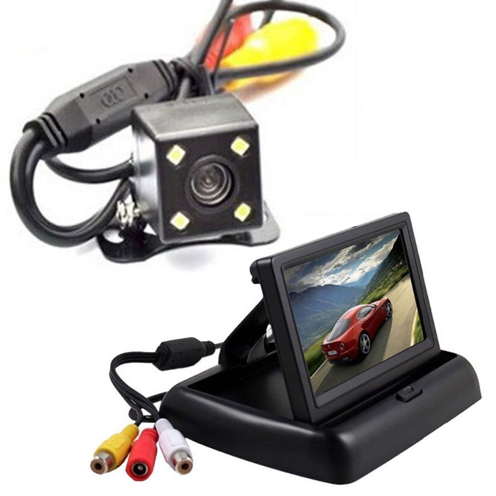"""Car Rear View Camera System Kit 4.3 """" Color LCD Monitor Night Vision Camcorder(China (Mainland))"""