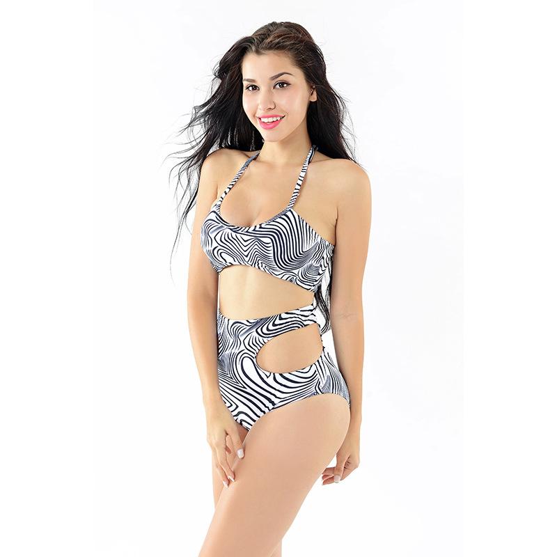 Free Shipping 2016 Lady Push Up Bikini Woman Zebra Swimwear Underwire Brazilian Femail Swimsuit Low Waist Swimsuit Beach Suit(China (Mainland))