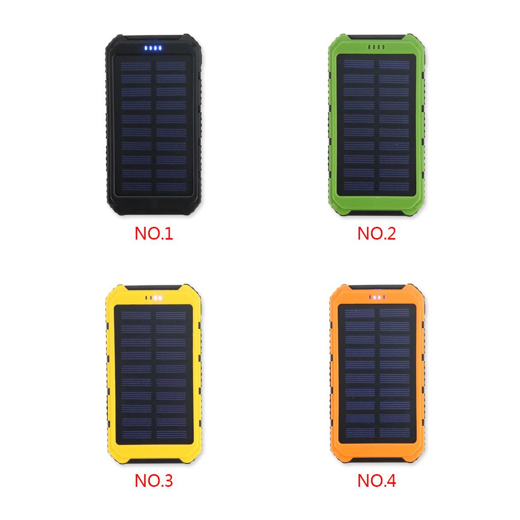 High Quality 4 Colors 6500mah Dual USB Ports Solar Panel Power Bank External Barrtery For Phones