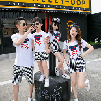 Family Matching Outfit Cartoon Family Clothing Mother and Daughter Matching Clothes Father Son Clothes Family Clothing Sets HH04