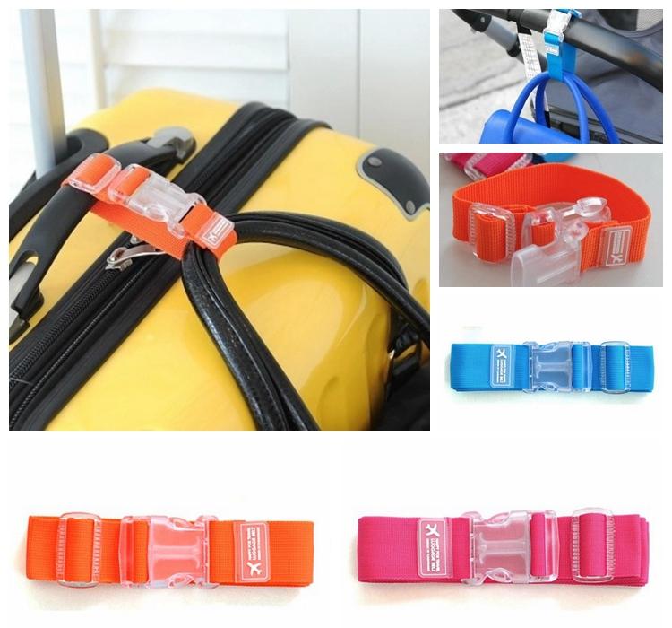 Single Buckle Adjustable Suitcase Bag Luggage Strap Travel Backpack Security Belt Strap Nylon(China (Mainland))