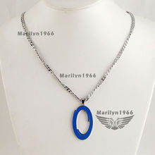 M0091 Portal 2 Necklace Blue orange circle Double Necklace Game Necklace(China (Mainland))