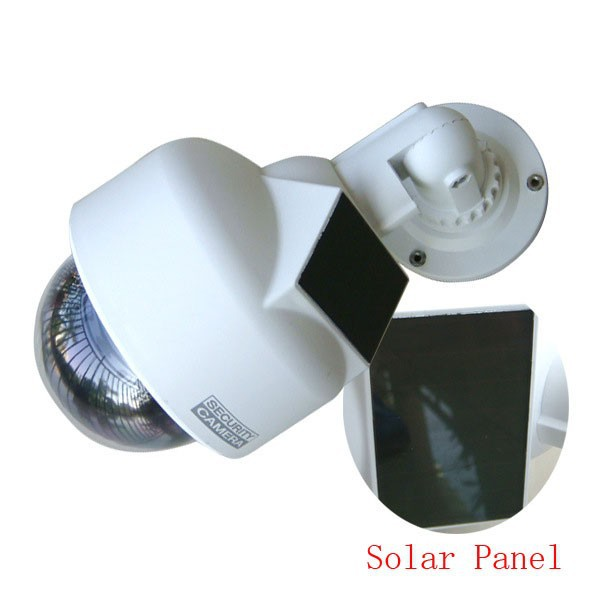 New listing! Solar Dummy Camera Dummy High Speed Dome With Bliking LED IR Fake CCTV Camera Outdoor Waterproof Emulational Camera