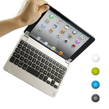 1PCS FOR IPAD MINI 1 2 3 bluetooth keyboard Slim Aluminum Bluetooth Keyboard Case Cover for Apple iPad Mini Free shipping(Hong Kong)