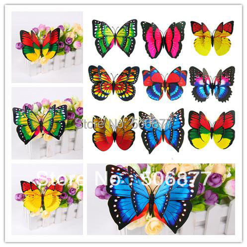 Free shipping - 30PCS, 7cm 3D Artficial Home Party Butterfly Wedding Decoration /Fridge Magnet / Refrigerator Magnet Butterfly