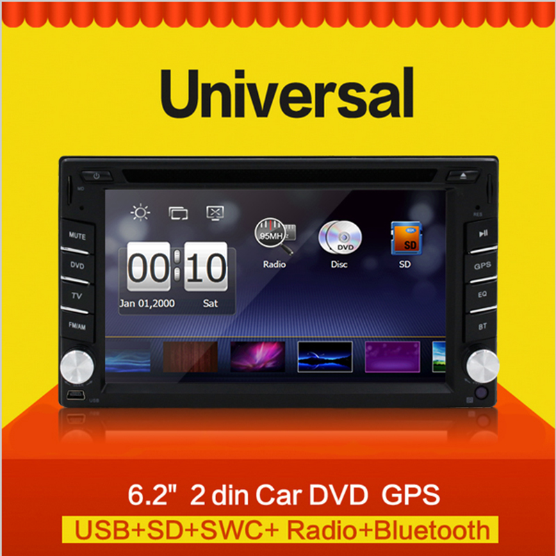 6.2 inch Car Radio GPS Navigation Double 2 Din Bluetooth Car DVD Player Car in dash Stereo video with Free Map(China (Mainland))