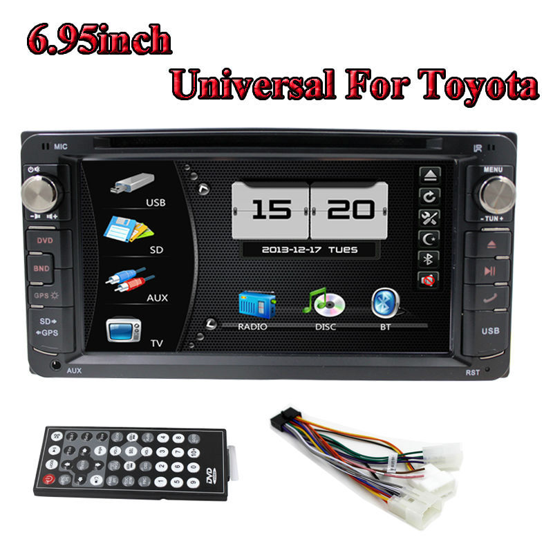 6.95inch Car Radio DVD GPS Double 2 Din Car DVD Player With Bluetooth TV FM Fransmitter Universal For All Toyota(China (Mainland))