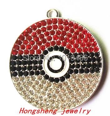 Hot sell! 38mm10pcs/lot silver Zinc alloy rhinestone Pendant for Jewelry Necklace making(China (Mainland))