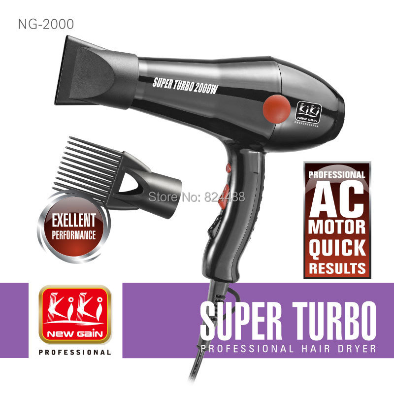 Professional AC motor Hair Drier.2000W.Super Turbo.Hot sale.PA housing.styling tools.hair dryer(China (Mainland))
