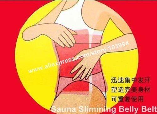 HOT SALE!!  4PACK Shape-Up Belly Slimming Belt Lose Weight Slim Patch Pink Sauna Waist Belt Shape-up Free Shipping