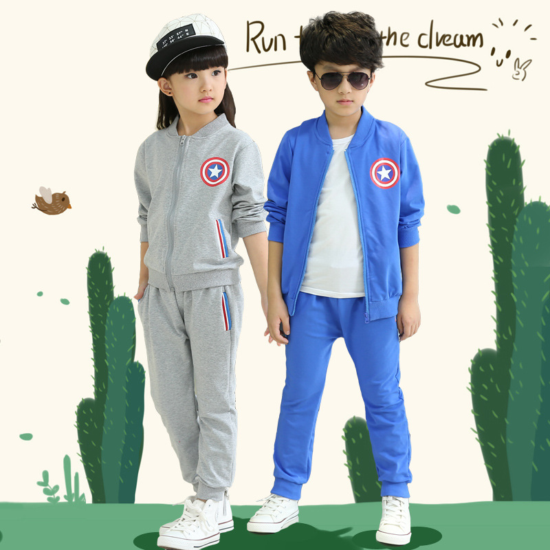 Branded Kids Clothes Sets 4-14 Years Boys Clothes Fashion Girls Sets Family Sweatshirts Autumn Uniform suit Children's Set(China (Mainland))