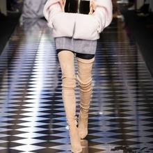 2018 Brand Autumn Winter Women Boots 긴 Stretch Slim 허벅지 (High) 저 (부츠 패션 넘 다 니 Boots (High) 저 (힐 Shoes woman(China)