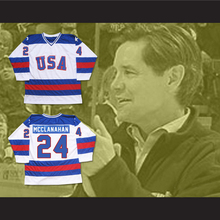 1980 Miracle On Ice Team USA 24 Rob McClanahan Men's Authentic Embroidery LogoS Customized Ice Hockey Jersey Mix Order Wholesale(China (Mainland))