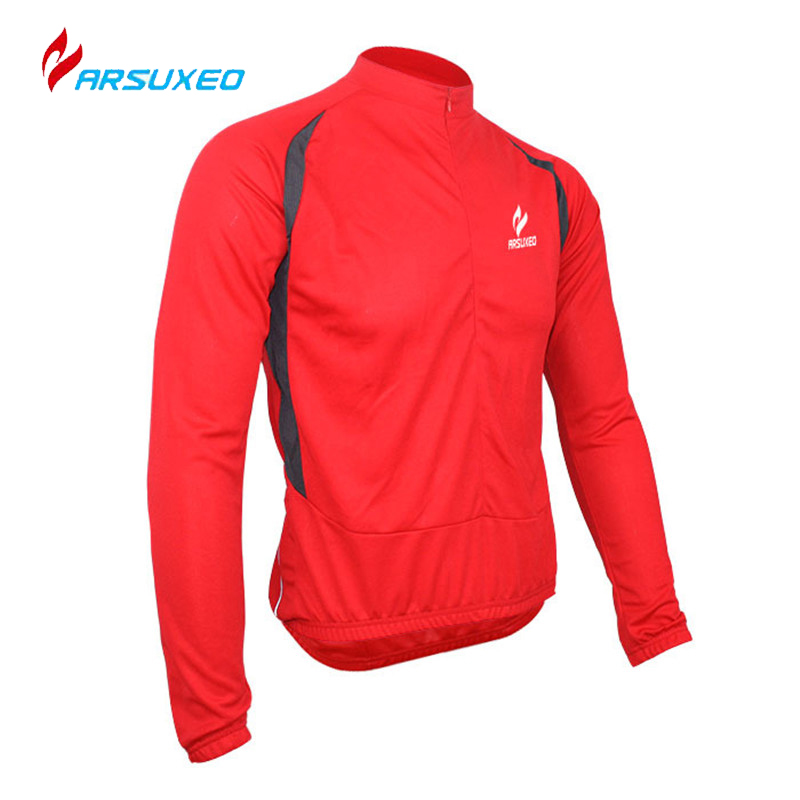 ARSUXEO Windproof Breathable Quick Dry Clothing Long Sleeve Cycling Bicycle Bike Jersey Men's Outdoor Sports Cycling Jacket Coat