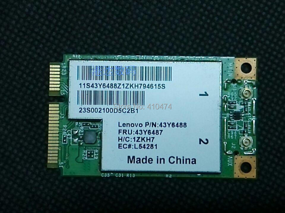 New BroadCom BCM4312 BCM94312MCG MINI PCI-E 802.11b/g/n Wlan WIFI Wireless Card for Lenovo 3000 N500 G530 s9 s10e FRU 43y6487(China (Mainland))