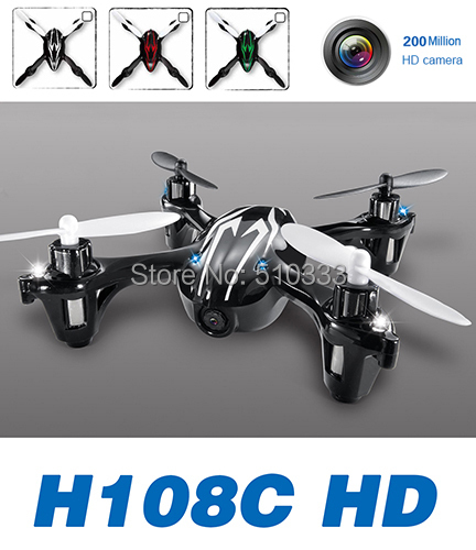 2015 Upgraded X4 H108C HD 2.4G 4CH RC Quadcopter With 2MP Camera RTF for H107C Free Shipping(China (Mainland))