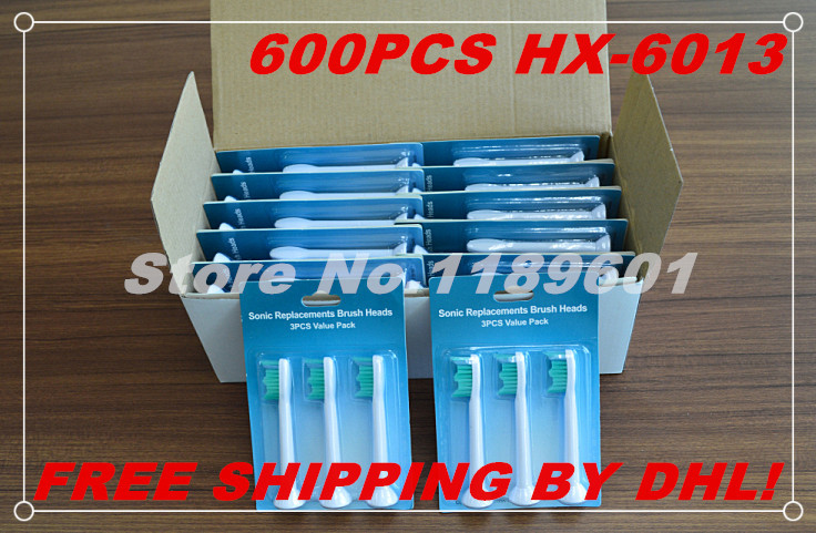 600pcs x  toothbrush heads for Philips Sonicare Proresults  HX-6013/HX6013 electric toothbrush(1pack=3pcs),Free DHL shipping<br><br>Aliexpress